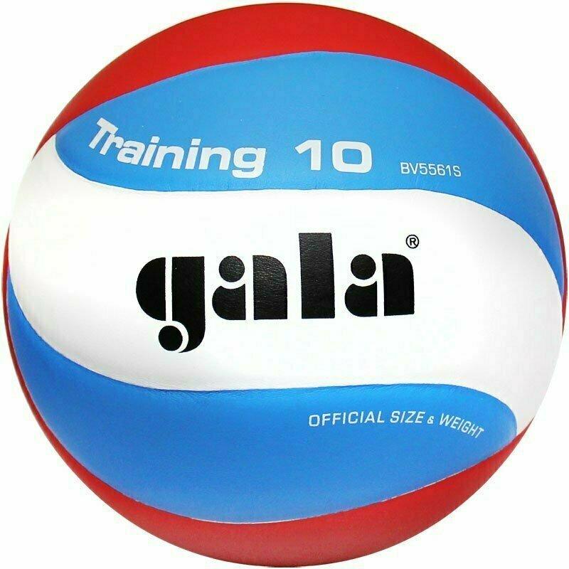 Мяч волейбольный  GALA Training 10 арт. BV5561S, р. 5, синт. кожа ПУ, клееный, бут. кам, бел-гол-красн