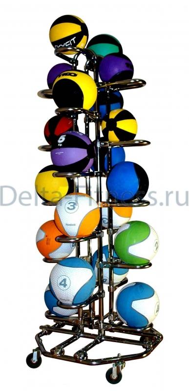 Подставка для хранения 20 мячей вертикальная 4-х сторонняя