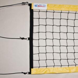 Сетка для пляжного волейбола  KV.REZAC арт.15015898006,8,5х1м,3 мм ПП,яч.10х10 см,ЖЕЛ.ленты ПВХ,кев.тр,чер