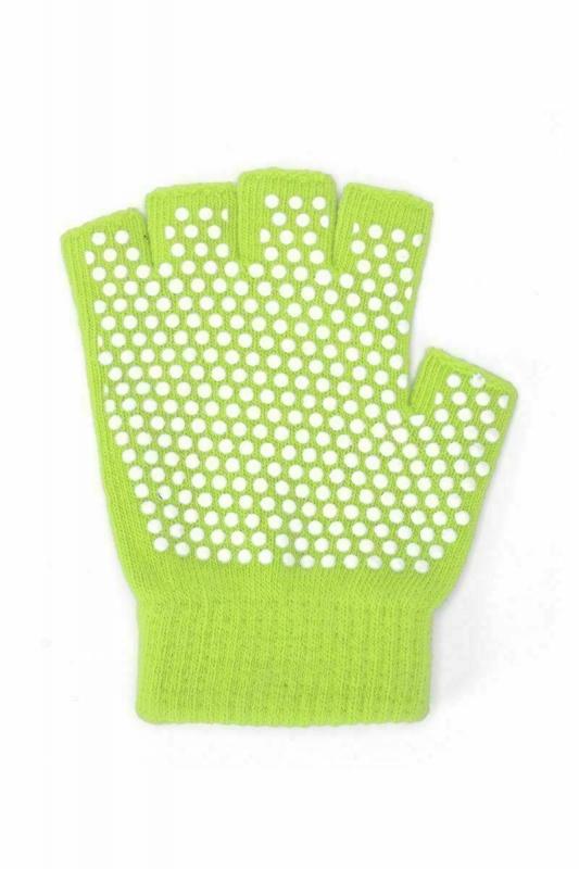 Перчатки противоскользящие для занятий йогой, салатовые BRADEX SF 0206