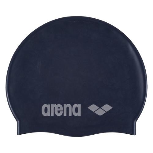 Шапочка для плавания детская  ARENA Classic Silicone Jr , арт.9167071, ТЕМНОСИНИЙ, силикон