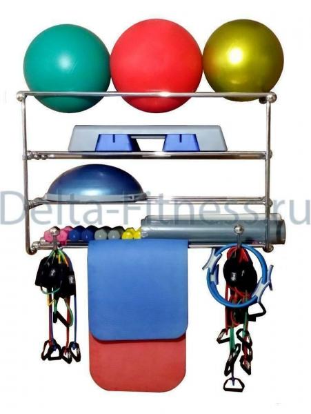 Консоль 4 уровневая для фитболов, медболов, ковриков и гантелей