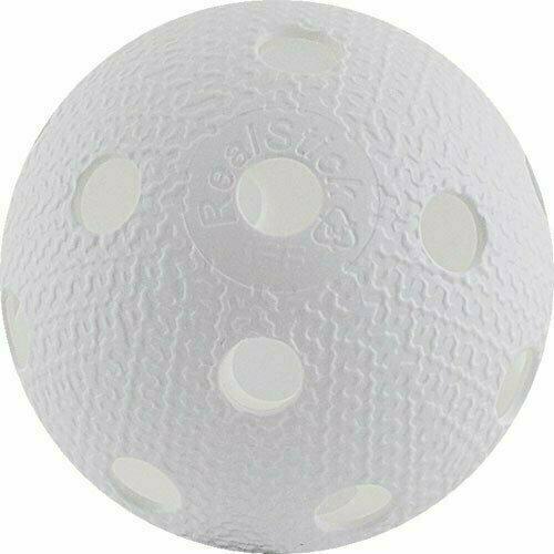 Мяч для флорбола RealStick , арт.MR-MF-Wh, пластик с углубл., IFF Approved, белый