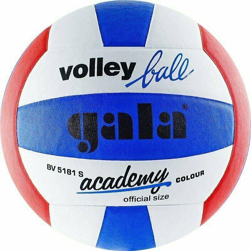 Мяч волейбольный  GALA Academy арт. BV5181S, р. 5, синт. кожа ПУ, клееный, бут. кам, бел-син-красн