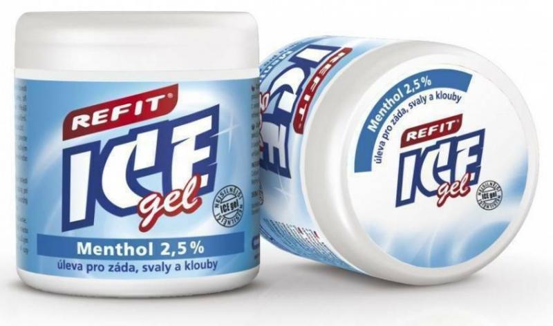 Охлаждающий гель Ментол 2,5% Refit Ice Gel 230 мл