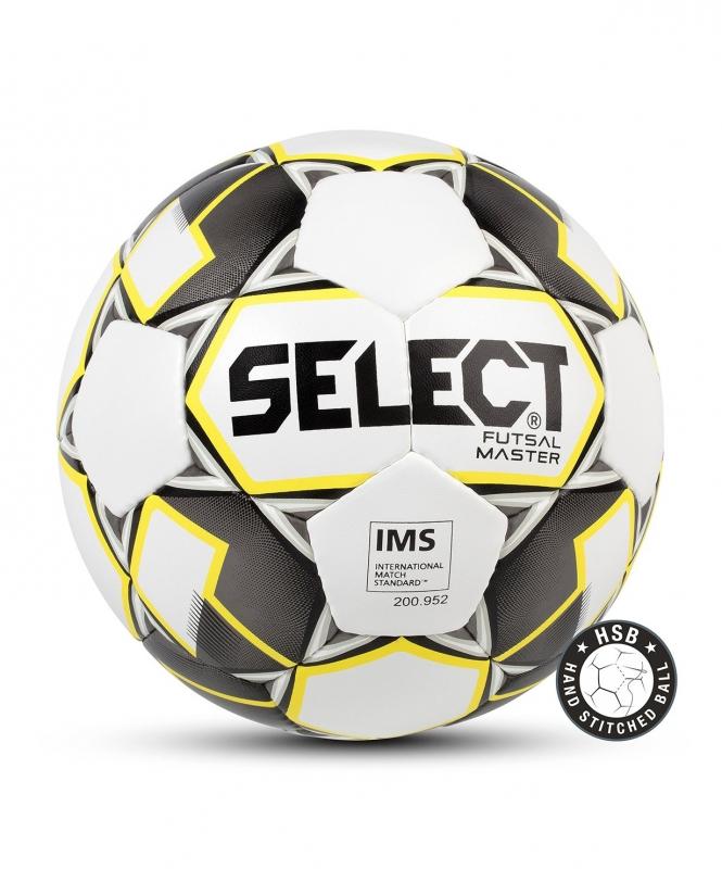 Мяч футзальный FUTSAL MASTER, 62-64, бел/жел/черн, Select