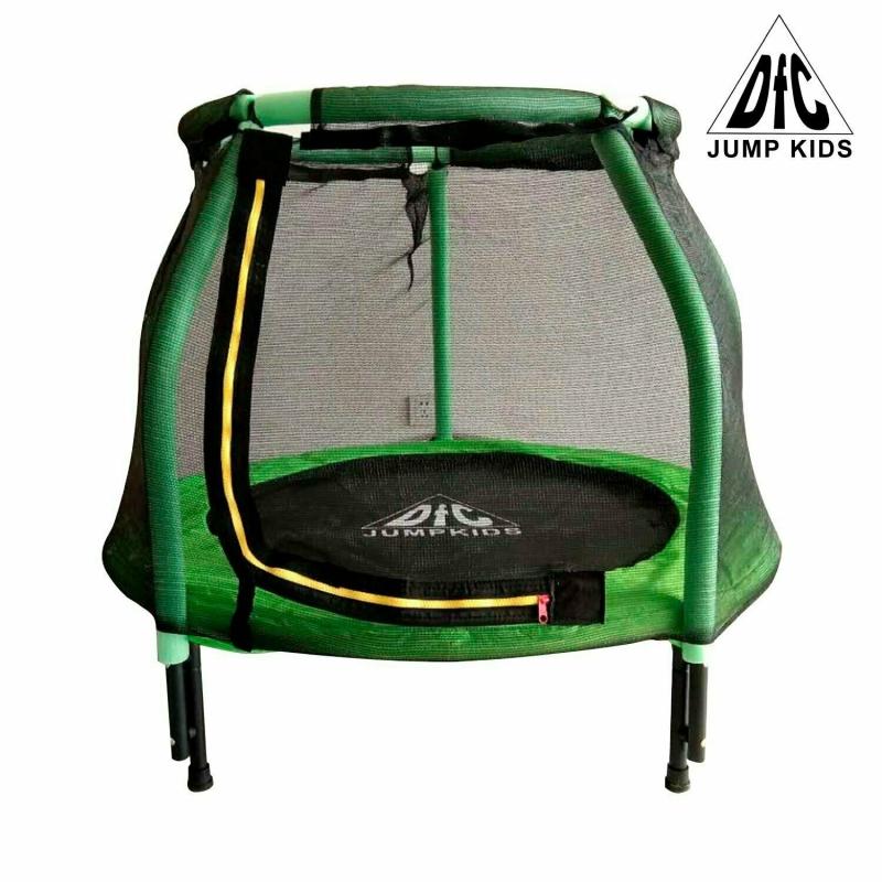 """Батут DFC JUMP KIDS 48"""" cв.зелен, сетка (120cм)"""