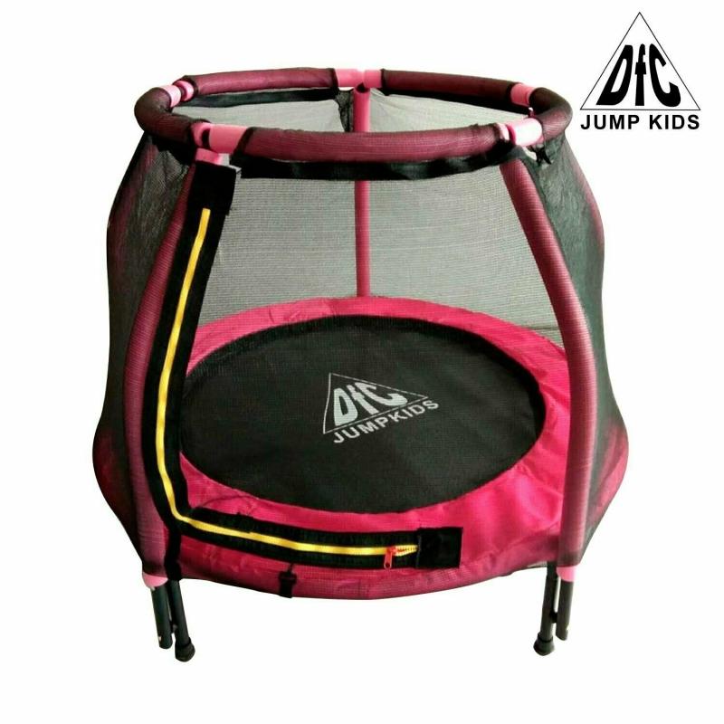 "Батут DFC JUMP KIDS 48"" розовый, сетка (120см)"