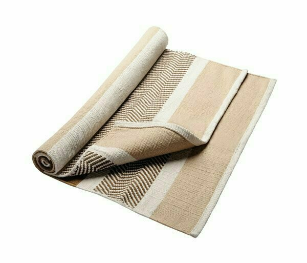 Одеяло для йоги HUGGER MUGGER Cotton Yoga Rug бежевый