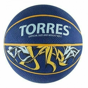 Мяч баскетбольный сувенирный TORRES Jam арт.B00041, р.1, диам.12 см, резина, ней. корд, бут. кам,син-желт-голуб