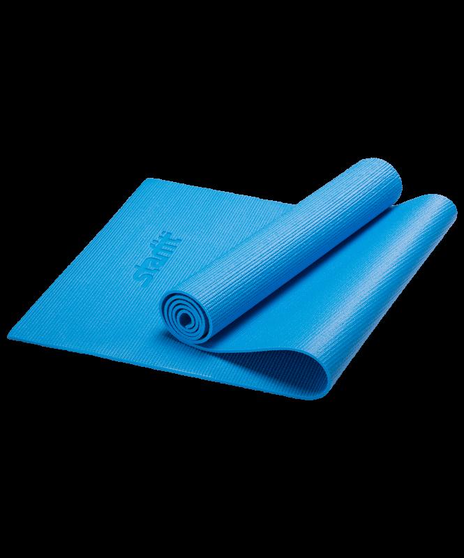 Коврик для йоги FM-101, PVC, 173x61x0,8 см, синий, Starfit