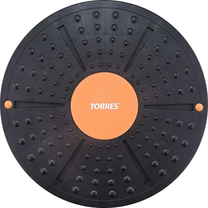 Балансирующий диск TORRES арт.AL1011, диаметр 40 см., нескользящее покрытие, черно-оранжевый