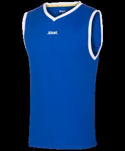 Майка баскетбольная JBT-1020-071, синий/белый, Jögel