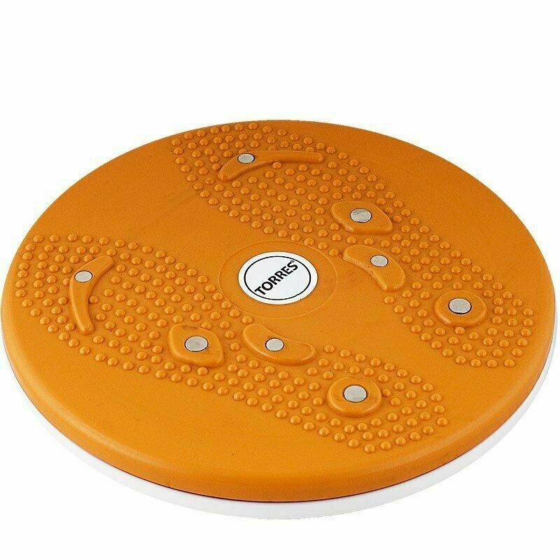 Диск здоровья TORRES арт.AL1010, 8 магнитов, нескользящее покрытие, оранжево-белый