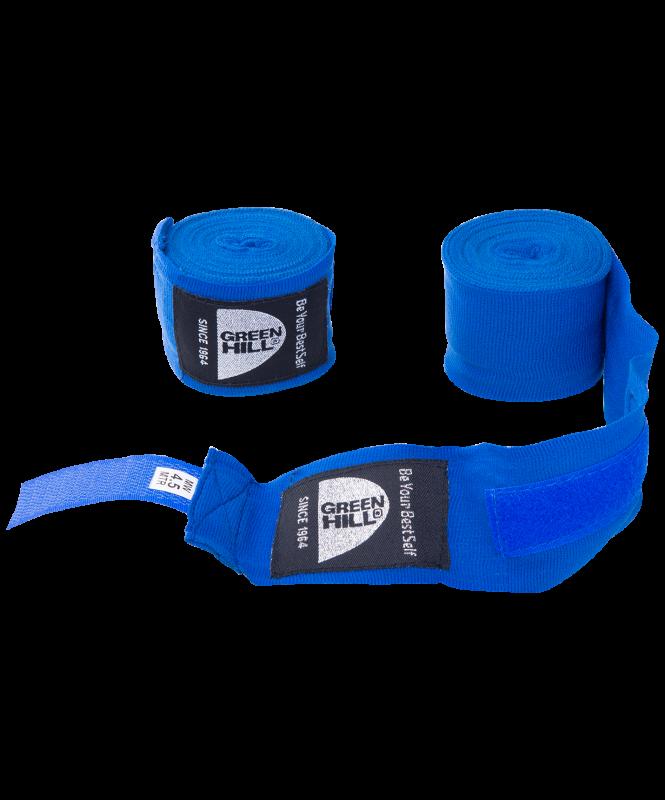 Бинт боксерский BP-6232d, 4,5м, эластик, синий, Green Hill