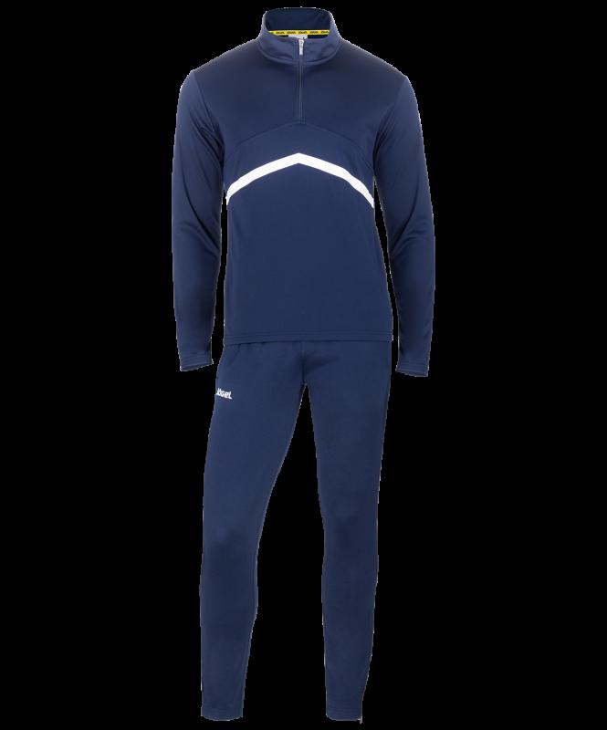 Костюм тренировочный JPS-4301-091, полиэстер, темно-синий/белый, Jögel