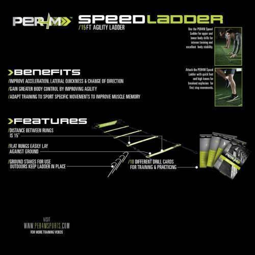 Лестница для функциональных тренировок PER4M Speed Ladder