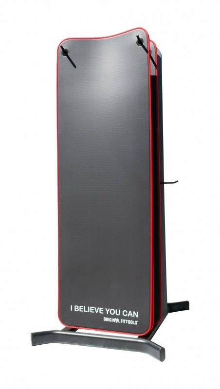Мат для аэробики NBR 10 мм черный с кольцами Original FitTools FT-YGR-100NBR-BKP