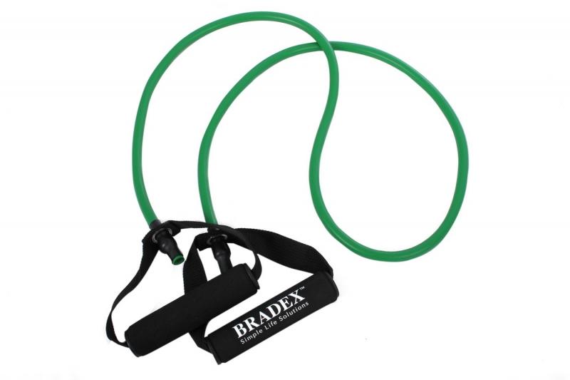 Эспандер трубчатый с ручками, нагрузка до 11 кг, зеленый BRADEX SF 0234