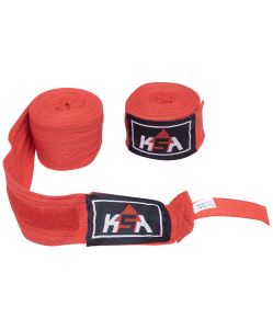 Бинт боксерский Stalker Red, хлопок, 4.5 м, KSA