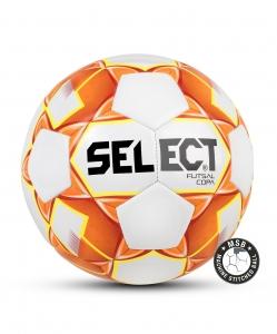 Мяч футзальный FUTSAL COPA, 62-64, бел/оранж/жел, Select