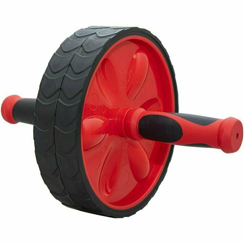Ролик гимнастический TORRES двойной арт.PL5013, мет., пластик, нескольз. протектор, красно-черный