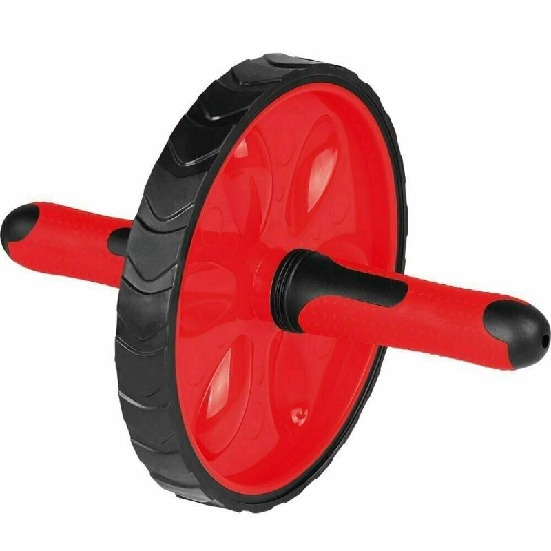 Ролик гимнастический TORRES арт.PL5012, металл, пластик, нескользящий протектор, крас-черн