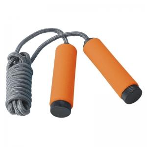 Скакалка TORRES арт.AL1003, трос из полипропилена, эрг. ручки, медл. скорость вращения, оранж.-сер