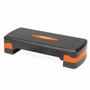 Степ-платформа TORRES арт.AL1005, два уровня, 64см*28см*10/15см, оранжево-черный