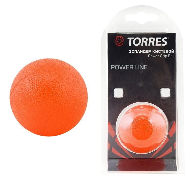 Эспандер кистевой TORRES мяч арт.PL0001, диаметр 5 см, термопластичная резина, красный