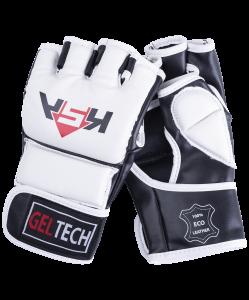 Перчатки для MMA Lion Gel White, к/з, S, KSA