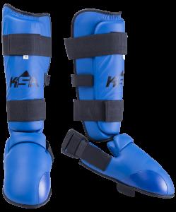 Защита голень-стопа Force Blue, к/з, детский, KSA