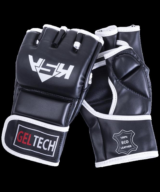 Перчатки для MMA Lion Gel Black, к/з, L, KSA
