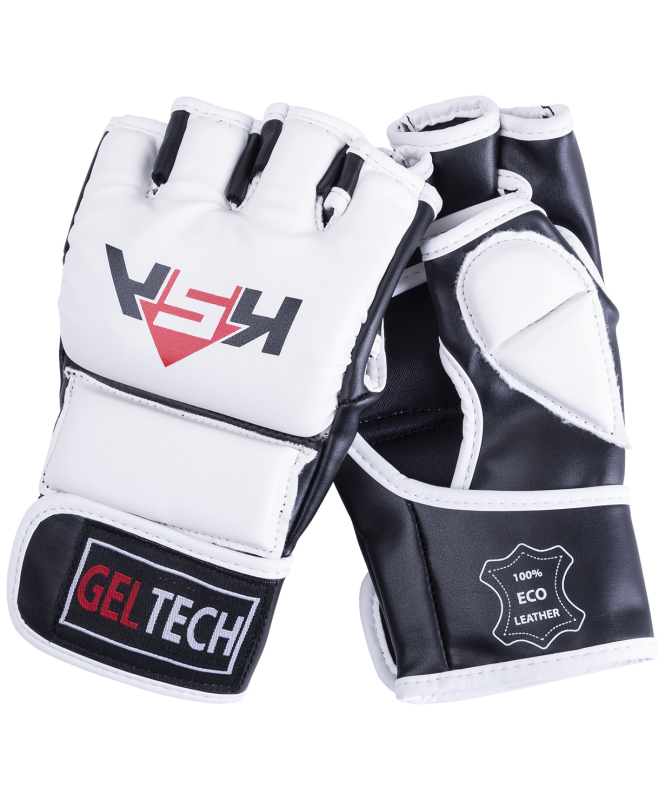 Перчатки для MMA Lion Gel White, к/з, L, KSA