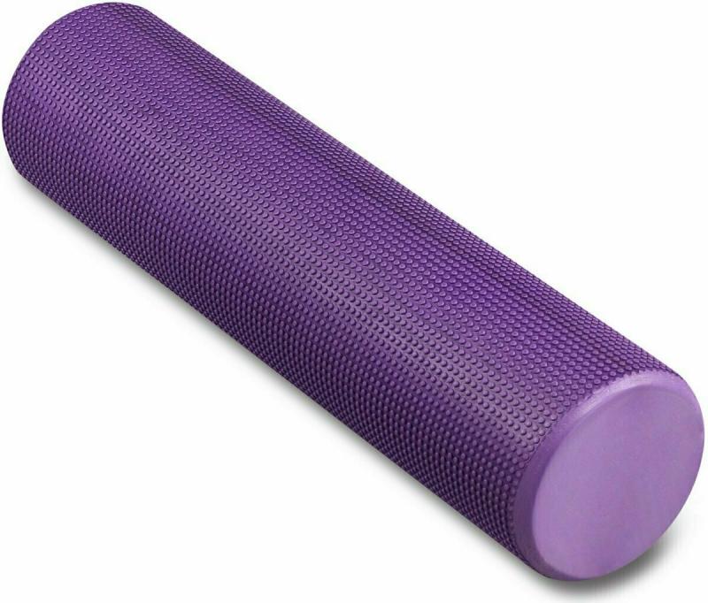 Ролик массажный для йоги INDIGO Foam roll IN022 15х60 см фиолетовый