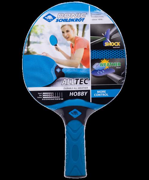 Ракетка для настольного тенниса Alltec Hobby, всепогодная, синий/черный, Donic