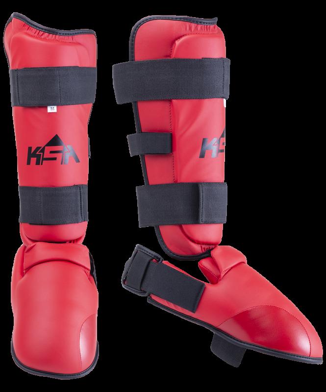Защита голень-стопа Force Red, к/з, KSA