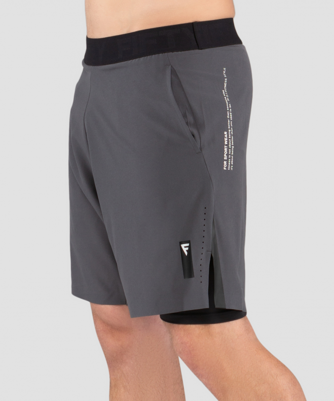 Мужские шорты Eminent black/grey FA-MS-0201-BDG, черный/серый, FIFTY