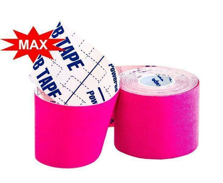 Кинезио тейп BBTape™ ICE MAX 5см × 5м розовый