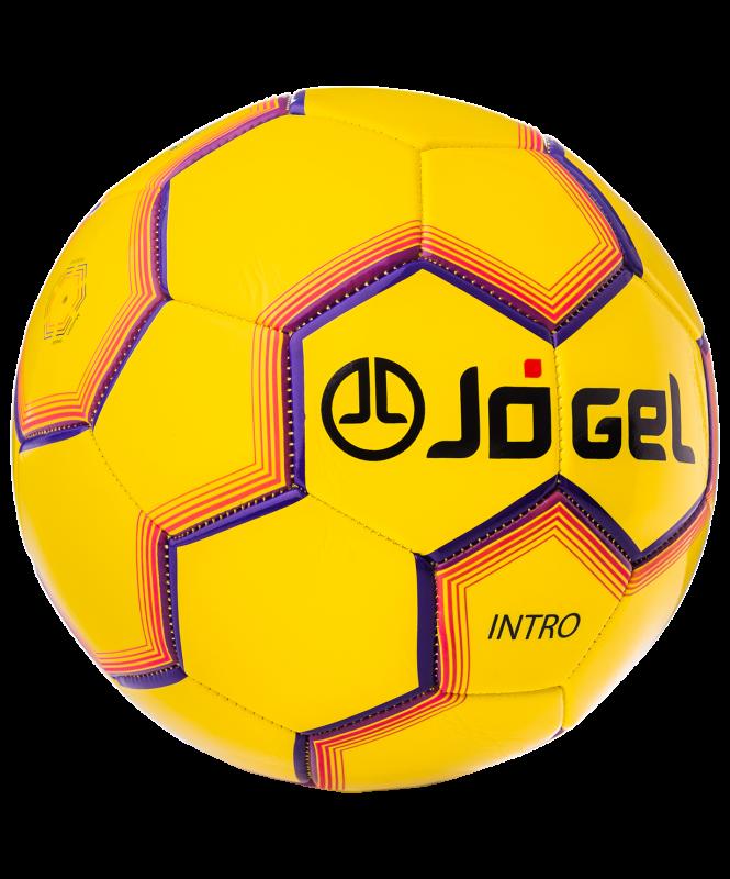 Мяч футбольный JS-100 Intro №5, желтый, Jögel