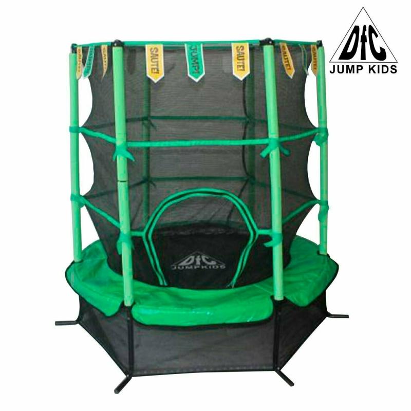 "Батут DFC JUMP KIDS 55"" зеленый, сетка (137см)"