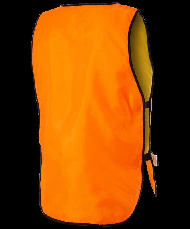 Манишка двухсторонняя Reversible Bib, детский, оранжевый/лаймовый, Jögel
