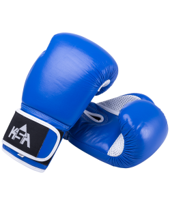 Перчатки боксерские Wolf Blue, кожа, 8 oz, KSA