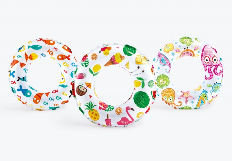 Круг Intex разноцветный 61 см от 6 до 10 лет 59241