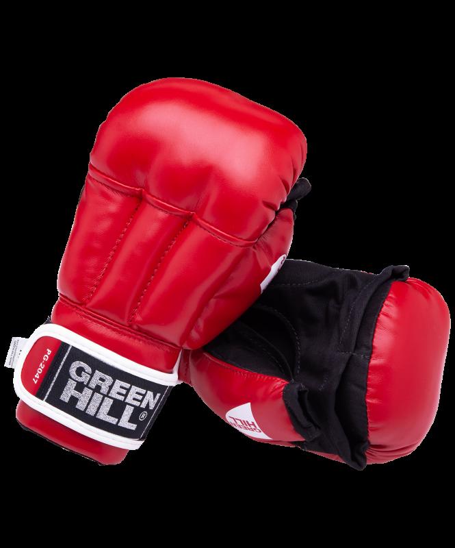 Перчатки для рукопашного боя PG-2047, к/з, красный, Green Hill