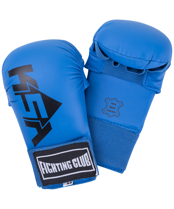 Накладки для карате Slam Blue, к/з, KSA