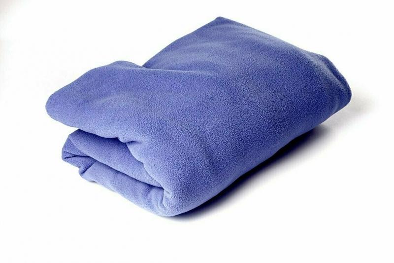 Плед Сурья для шавасаны, нидры и релаксации RamaYoga синий, 200x150 см, 1.3 кг