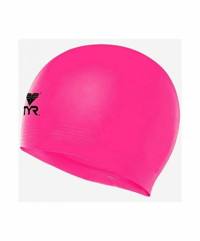 Шапочка плавательная Latex Swim Cap, латекс, LCL/670,  розовый, TYR