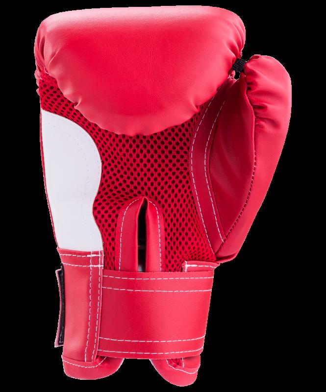 Перчатки боксерские детские, 6oz, к/з, красный, Rusco