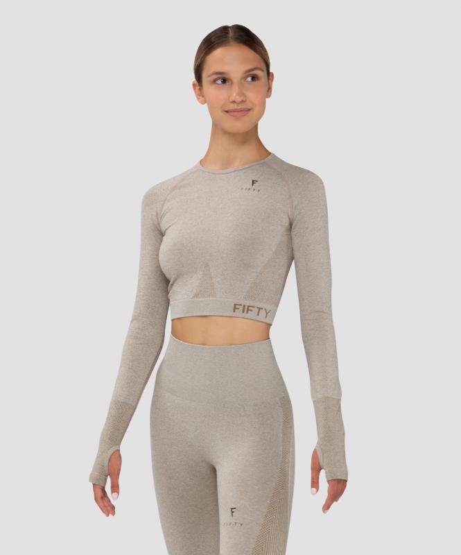 Женская футболка с длинным рукавом Emphatic beige FA-WL-0203-BEG, бежевый, FIFTY